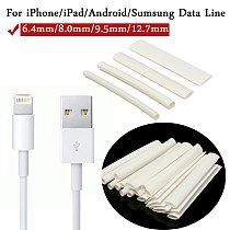 20Pcs White 3/4:1 Heat Shrink Tubing Wrap Wire For iPhone For iPad For Android For Samsung Data Line Heatshrink Tubes