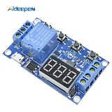 DC 5V Micro USB  LED Light Digital Time Delay Relay Trigger Cycle Timer Delay Switch Circuit Board Timing Control Module 12V 24V