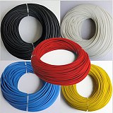 1Meter 2mm~20mm Black Silicone Fiberglass Sleeving Flame-resistant Wire Protection Tube 200 Degree High Temperature Casing