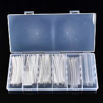 100/150PCS 2:1 Heat Shrink Tubing 100mm Transparent 1.5-10.0mm Electrical Wrap Wire Cable Sleeves Shrinkable Tube Kit with Box