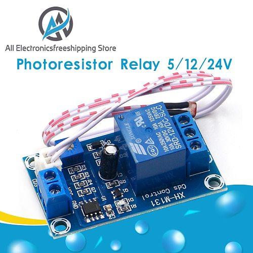 XH-M131 DC 5V / 12V Light Control Switch Photoresistor Relay Module Detection Sensor 10A brightness Automatic Control Module