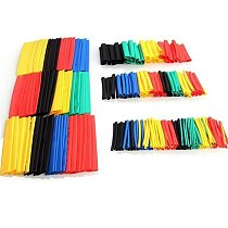 127pcs/164pcs Assorted Heat Shrink Tube Black Wire Wrap Electrical Insulation Cable Sleeving 2-13mm 40% off