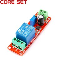 NE555 0~10S DC 12V Time Delay Adjustable Relay Module Shield Timer Switch Turn-On Relays Pulse Generation Duty Cycle