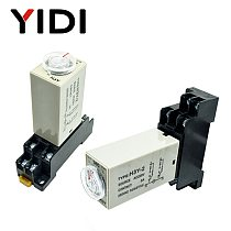 H3Y-2 Time Relay DC12V AC 220V 0-30 Sec 0-30 Minute 0-60s 0-60min Delay Timer 220VAC Timer Relay with Base Socket