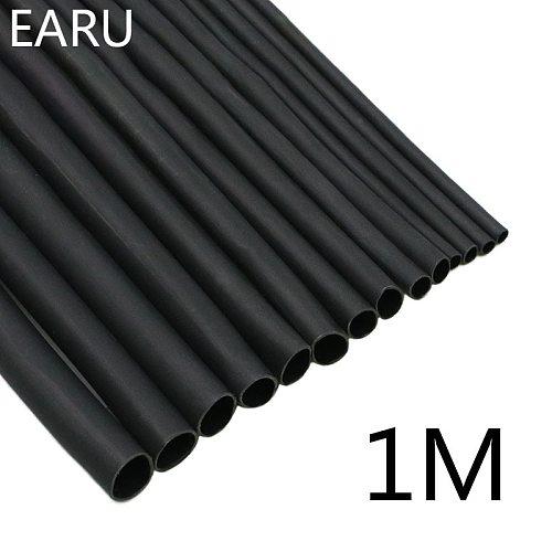 1 Meter/lot 2:1 Black 1 2 3 5 6 8 10mm Diameter Heat Shrink Heatshrink Tubing Tube Sleeving Wrap Wire Sell DIY Connector Repair