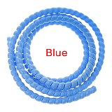 Spiral Wire Organizer Wrap Tube Flame Retardant Colorful Spiral Bands Diameter Cable Casing Cable Sleeves Winding Pipe