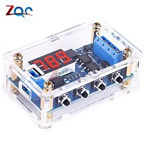 DC 5V-36V 12V 24V Dual MOS LED Digital Time Delay Relay Trigger Cycle Timer Delay Switch Circuit Board Timing Control With Case