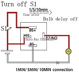 30A 10 minutes delay off  after switch turn off Automotive 12V Time Delay Relay SPDT 600 second delay release off relay