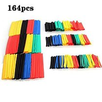 164PCS Heat Shrink Tubing Black 2:1 Assortment Car Cable Sleeving Wrap Wire Kit Useful cable Electrical Tube shrinkable tube