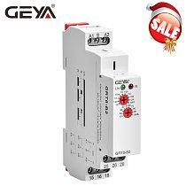 GEYA GRT8-B Delay Off Timer Relay 16A AC230V OR AC/DC12-240V Din Rail 12V Time Delay Relay