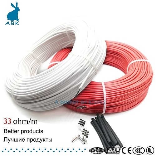 12K 33ohm heating  carbon fiber heating cable floor heating wire electric hotline new infrared high quality heating cable
