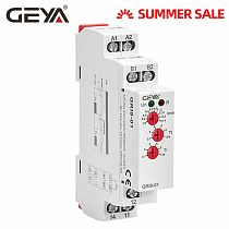 GEYA GRI8-01 Over current Monitoring Relay 10A Current Sensing Relay Din Rail Mounted Current Monitor AC/DC24V-240V