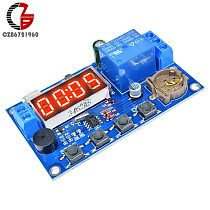 Real Time Delay Relay Module Timer Control Switch Timing Delay Relay with Buzzer Alarm DC 12V 24V