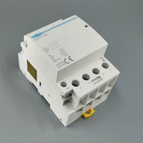CT1 4P 40A 220V 400V~ 50/60HZ Din rail Household ac Modular contactor 4NO