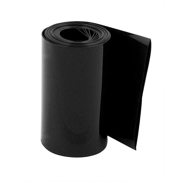 Uxcell Newest Hot 2.1M 55/75/80mm Black PVC Heat Shrink Tubing Tube Wrap Contra Sleeve Cable Heat Shrink Tube for 18650 Battery