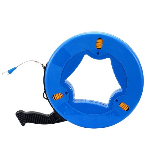 Portable 45 Meter Fiberglass Fish Tape Fishing Tool Reel Puller Conduit Duct Rodder Pulling Wire Cable Fish Tape Brand new