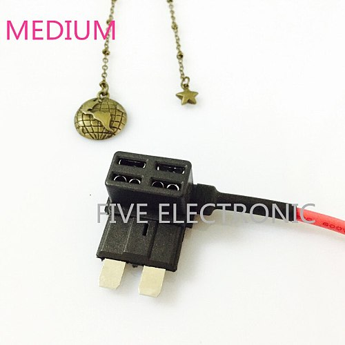 Medium Auto CAR Fuse box Holder for Auto Car Take electrical appliances With cable plug Free medium fuse & terminal
