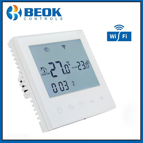 Beok TDS21WIFI-WP Digital Thermoregulator Weekly Programmable Smart Thermostat for Water Heating