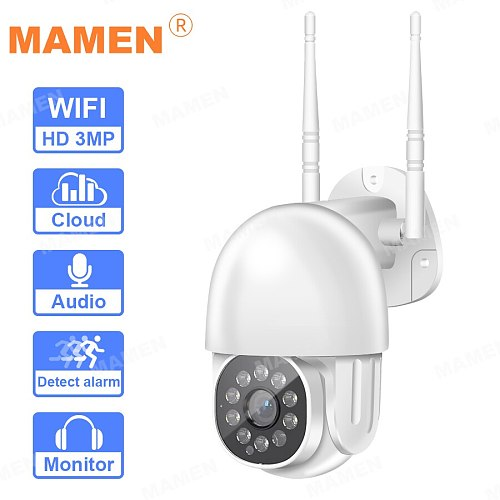 1080P PTZ Wifi IP Tracking Camera Outdoor 10LEDs AI Human Detect Wireless Camera H.265 P2P ONVIF Audio 2MP Security CCTV Camera