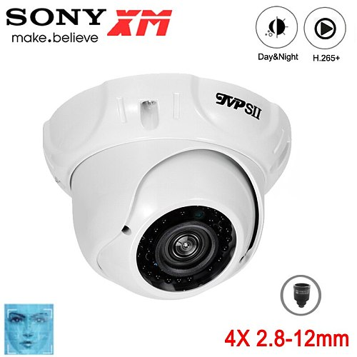 8mp,5mp,3mp,2mp Metal 36pcs infrared Led 2.8mm-12mm Zoom Waterproof H.265+ ONVIF Audio hemisphere Face Detection POE IP Camera