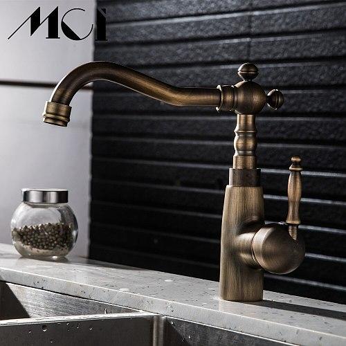 360 Swivel Kitchen Faucet Bathroom Faucet Antique bronze finish Brass Basin Sink Faucet Sink Basin Mixer Tap Torneira Mci