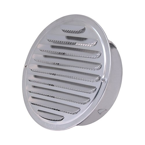 SEAAN Stainless Steel Exterior Wall Air Vent Grille Round Ducting Ventilation Grilles 70/80/100/120/150/160/180/200mm Air Vent