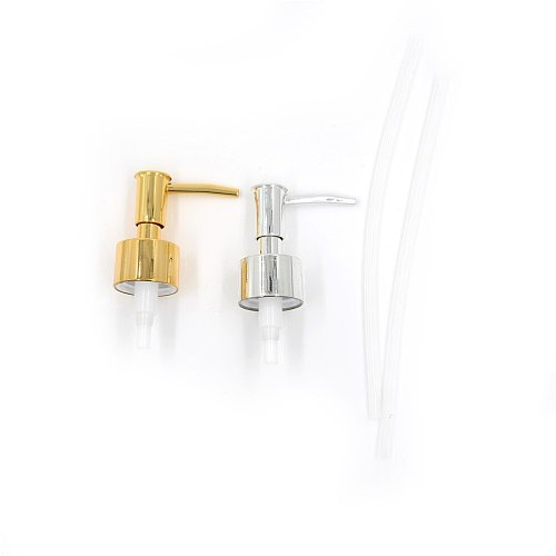 Plastic Soap Pump Liquid Lotion Gel Dispenser Replacement Jar Tube Tool Gold/Silver Color