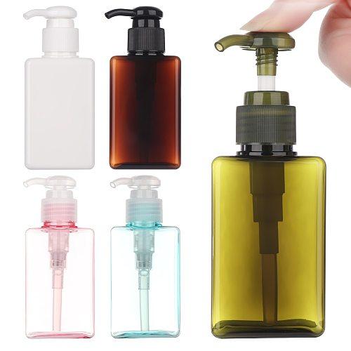 1Pc FAST SHIP 100ml Empty Squeezed Foaming Pump Soap Foam Bottle Cosmetic Container Dispenser PET Liquid Travel Bottle DROPSHIP