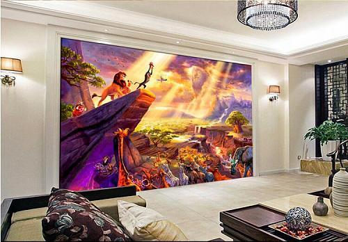 beibehang beibehang 3d room wallpaper custom mural non-woven Fairy tale the lion king painting photo 3d wall murals wallpaper