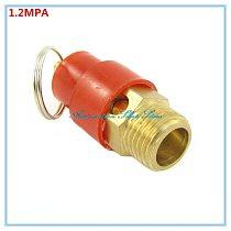 Red Cap 1/4  BSP Pneumatic Compressor Fitting 1.2MPA Male Thread Pressure Relief Valve 12KG