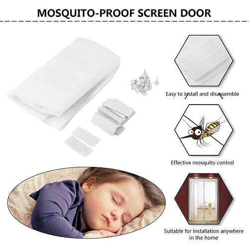 1 Set Summer Magnetic Anti Mosquito Insect Fly Bug Curtains Net Automatic Closing Magnetic Door Screen Kitchen Curtains Curtains