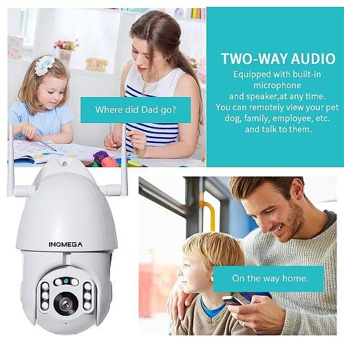 INQMEGA IP Camera WiFi 1080P Wireless Auto tracking PTZ Speed Dome Camera Outdoor CCTV Security Surveillance Waterproof Camera