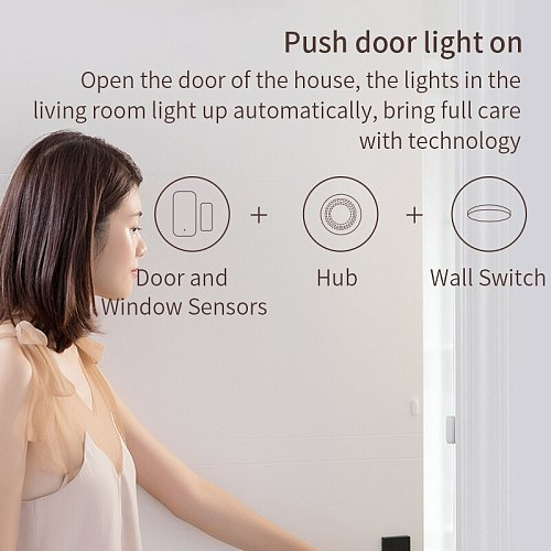 Xiaomi Aqara Door Sensor Zigbee Wireless Connection Smart Mini Door Window Sensor Work With Gateway Hub For Homekit Mi Home App
