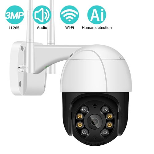 BESDER 1080P FHD Mini WiFi Camera Ai Human Shape Detection Waterproof IP Camera Two-Way Audio IR Night Vision CCTV Surveillance