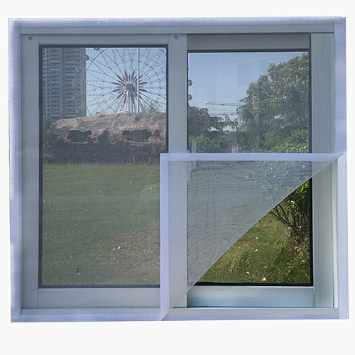 Mosquito Nets for Window Screens Self-Adhesive Invisible DIY Magic Stickers Simple Door Curtain Screening Custom Size