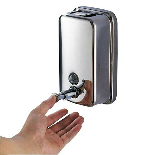500/800/1000ML Bathroom Wall Mounted Liquid Soap Dispenser Stainles Steel Shower Bottle For Kitchen Soap Shampoo Dispenser