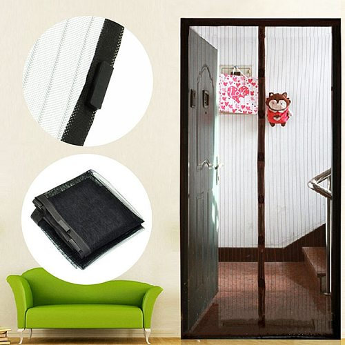 Summer Magnetic Net Anti Mosquito Insect Fly Bug Door Curtain Room Divider Automatic Closing Magnetic Bug Screen Curtains