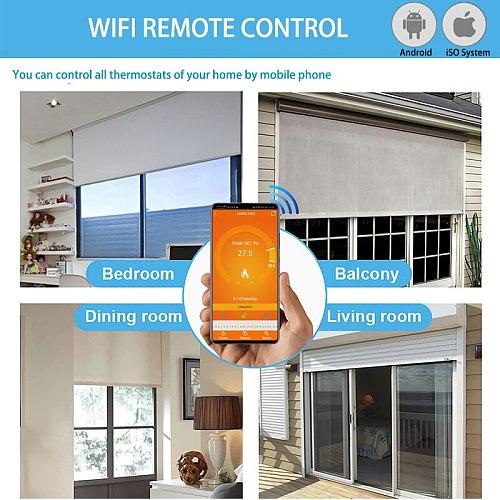 New Arrival Wifi Temperature Controller Smart Thermostat Floor Heating Temperature Controller 220-240V Goolge Home Alexa