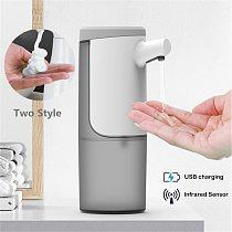 450ML Automatic Induction Sensor Soap Dispenser Gel Foam Dispenser Touchless Hand Sanitizer For Kitchen Bathroom Infrared Sensor