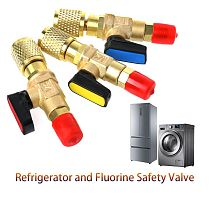 New 1pc R410A Refrigerant Valve AC Charging Hoses Brass Straight Ball Valves for Refrigeration Manifold Gauges Mayitr