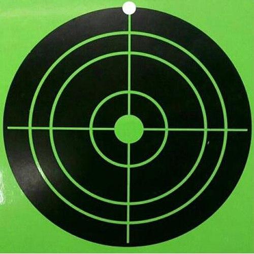 100 Splash Targets per Pack 4X4 Inch Fluorescent Green Viscous Reaction Shooting Target Aiming Gun / Rifle / Pistol Practice
