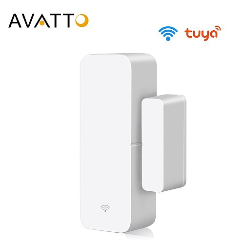 AVATTO Tuya WiFi Door Sensor, Smart Door Open/Closed Detectors, Smartlife APP Wifi Window Sensor Work with Alexa,Google Home