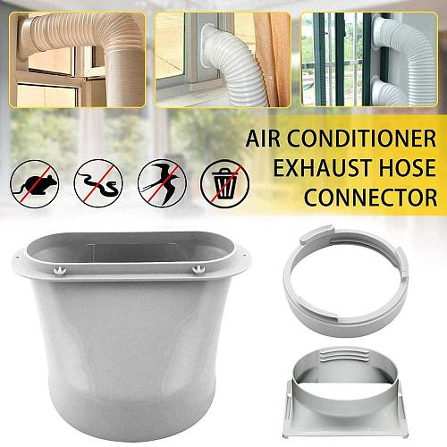 3 types of   Portable Interface Air Conditioning Body Exhaust Duct ABS Home Air Conditioner Parts Exhaust pipe connector