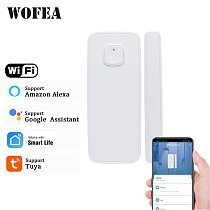 Wofea 433mhz / Wifi Wireless Window And Door Sensor Wifi Contact Magnetic Detector Smart Door Sensor Battery Not Included