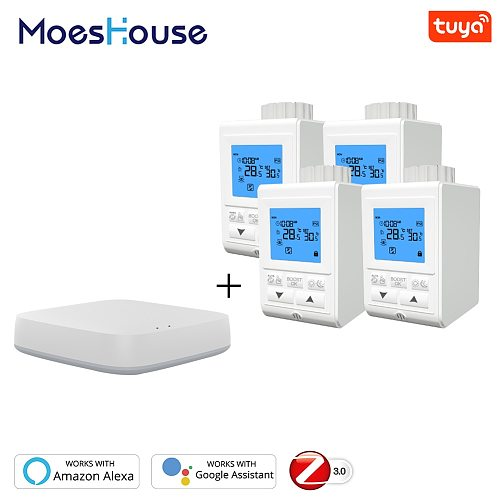 Zigbee Thermostat Smart TRV Thermostatic Radiator Valve Controller Heater Temperature Voice Control Works with Alexa Google Home