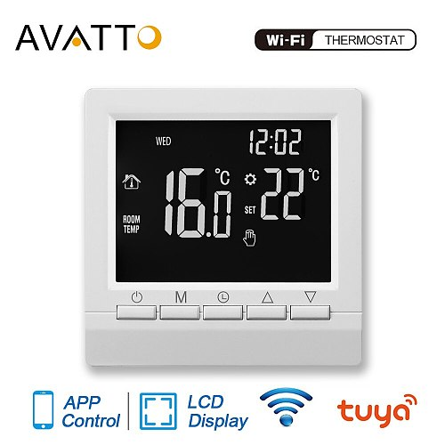 AVATTO Smart WiFi Thermostat Temperature Controller Water Electric Floor Heating Water Gas Boiler with Tuya APP Remote Control