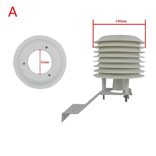 ABS Solar radiation shield ambient weather station projector 4-20 floors