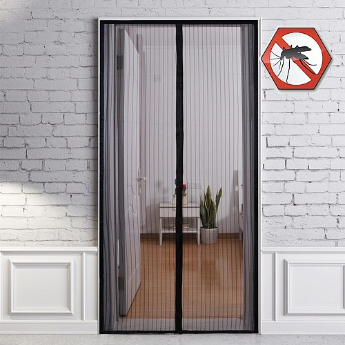 Anti Mosquito Insect Fly Bug Curtains Magnetic Velcro Tape Mesh Net Automatic Closing Door Screen Kitchen door Curtains
