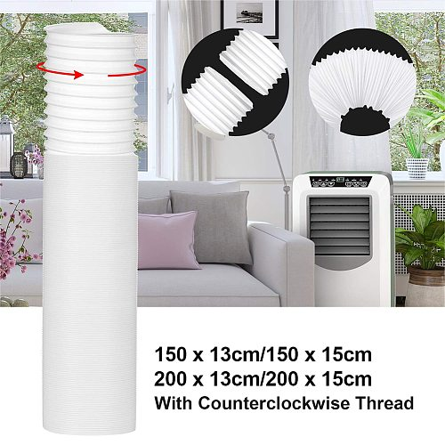 Flexible Air Conditioner Exhaust Pipe Exhaust Vent Pipe 125mm Portable Exhaust Air Conditioner Extra Hose 118 '' Long