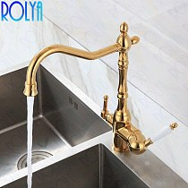Rolya Victoria Antique Bronze/Gold/ORB 3-in-1 Kitchen Faucet Purified Water 3 Way Kitchen Tap Oil Rubbed Bronze